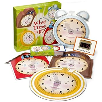 Amazon.com: What Time is it? Time Telling Game by eeBoo: Toys & Games