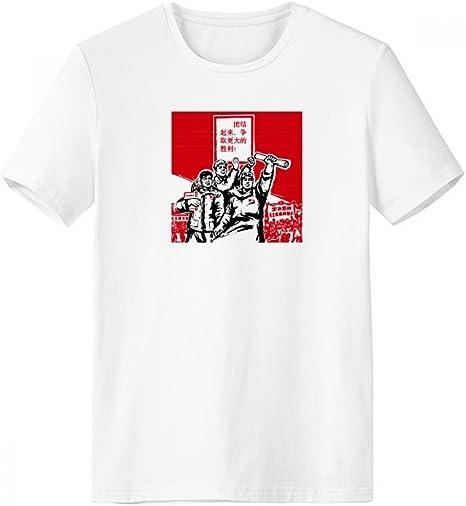 DIYthinker Libro De Papel Roja Presidente Mao Masas De Cuello Redondo Camiseta Blanca De Manga Corta De La Comodidad Camisetas Deportivas Regalo: Amazon.es: Deportes y aire libre