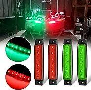 GSRECY LED Boat Navigation Lights, Stern Lights, Marine Led Strip Lights, Bow and Stern Kayak Lights for Boat