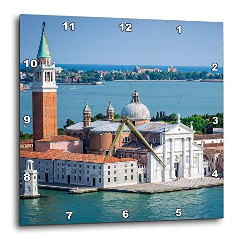 3dRose Danita Delimont - Venice - San Giorgio Maggiore Church and The Venetian Lagoon, Venice, Italy - 13x13 Wall Clock (DPP_313736_2)
