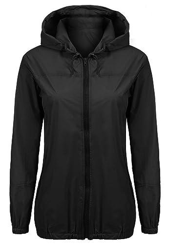 Pagacat - Abrigo impermeable - para mujer negro negro
