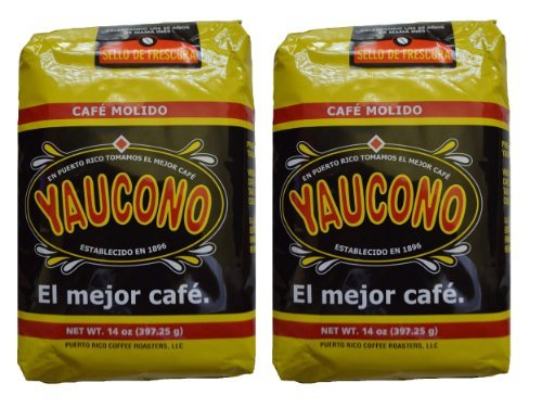 Cafe Yaucono Ground Coffee Puerto Rican, 14 Ounce Bag (Pack of 2) (The Best Of Puerto Rico)
