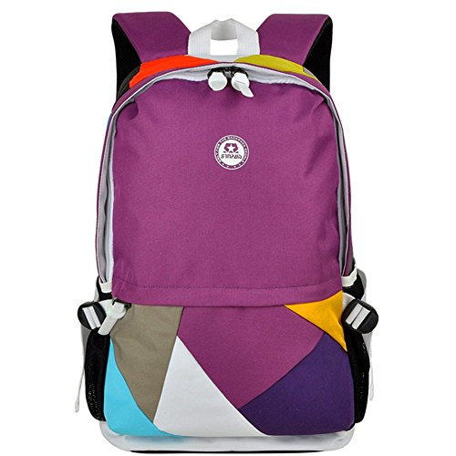 Kaisasi Leisure Sports Bag Shoulder Bag Backpack Schoolbag Men And Women Travel Difference(purple)