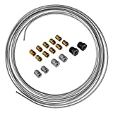 Galvanized Steel Brake, Fuel, Transmission Line Tubing Coil and Fitting Kit, 3/16 x 25