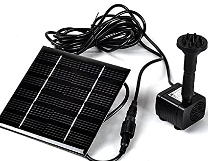 Sunnytech Solar Power Water Pump Kits - Garden Fountain Pool Watering Pond  Pump Pool Aquarium Fish Tank with Separate Solar Panel and 3M Long Cable &