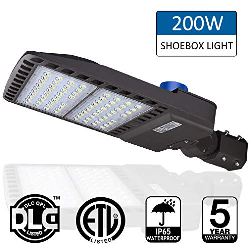 (200W LED Parking Lot Lights- LEDMO 5000K LED Street Lights Shoebox Pole Lights, Waterproof 26000LM Super Bright Dusk to Dawn Outdoor Commercial Area Road Lighting Slip Fitter,LED Parking lot Lighting)