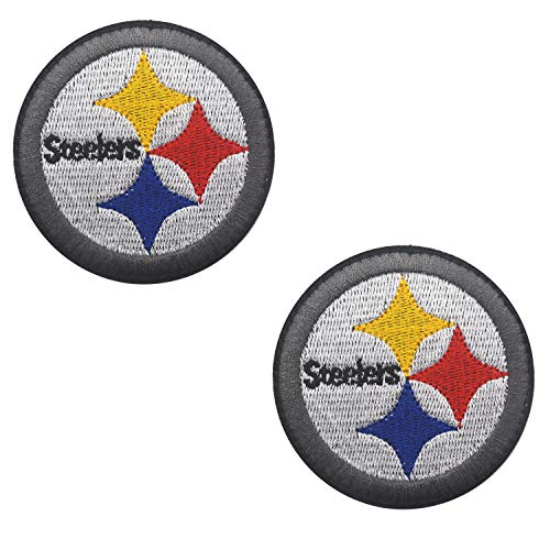 Steelers Embroidered Applique Patch Tactical Military Morale Hook and Loop Fasteners Backing Patches Badge Emblem Sign 2.36 inch ()