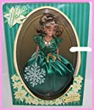 Happy Holidays Vanna White Wheel of Fortune Barbie Doll in Green Dress