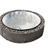 36'' Round Flat Aluminum Gas-Wood Fire Pit Ring Spark Cover Top Lid