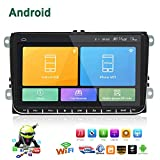 Double Din Car Stereo,Android 6.0 Radio 1G DDR3 + 16G NAND Memory Flash 9 Inch Touch Screen with GPS Navigation Bluetooth USB Player for VW Passat Golf MK5 MK6 Jetta T5 EOS Polo Touran Seat Sharan