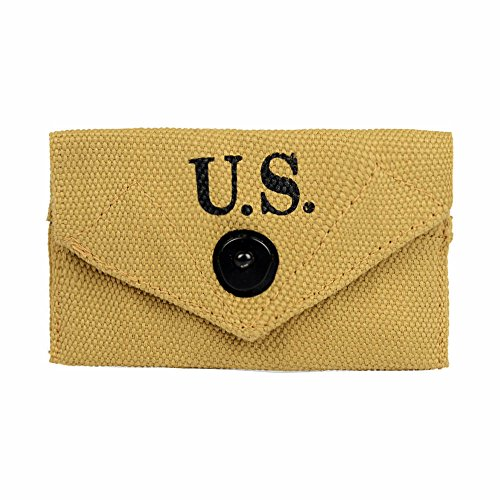 Oleader WW2 U.S. Army M1942 First Aid Pouch Bag WWII Collection with Hook Khaki Canvas