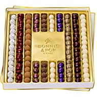 Truffle Chocolates Gourmet Gift Basket, Rows of Delightful Truffles in Gift Tray for Valentine's Day Birthday Gifts for Women Men Family Holiday Corporate Food Delivery Ideas by Bonnie and Pop