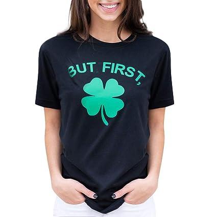 8e20ae2778c7a Dreamyth-Summer Women Casual St. Patrick s Day Printed Cotton Short Sleeve T -Shirt