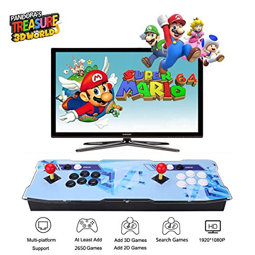 Pandora Treasure 3D Arcade Game Console - 2650 Games Installed, Search Games, Support 3D Games, Add More Games, 1920x1080 Full HD, Favorite List, 4 Players Online Game, 2 Player Game Controls (The Best Two Player Games For Ps3)