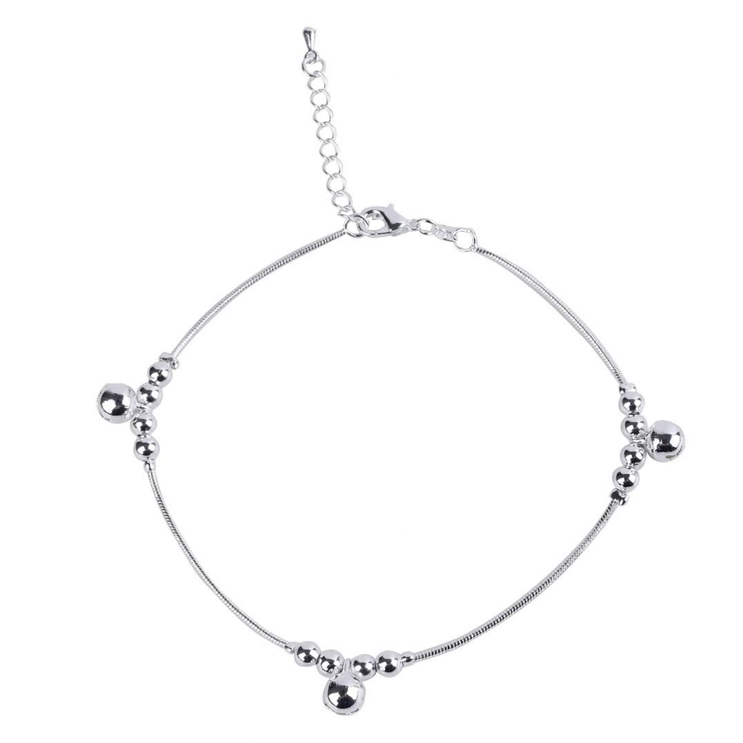 Underleaf Elegant Anklet for Women Foot Chain with Bells Beach Jewelry Charm Ankle Bracelets