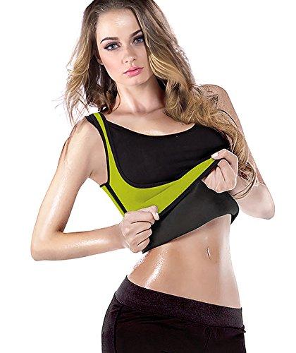 Gepoetry Waist Trainer Sweat Vest Body Shaper Sauna Sweat Suit Workout Tank Tops Hot Waist Cincher Shapewear for Women