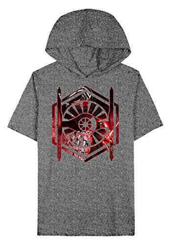 Star Wars Big Boys' The Force Awakens First Order Hooded T Shirt (10/12)