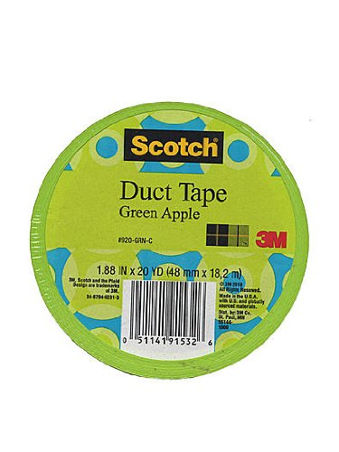 Scotch Colored Duct Tape green apple 1.88 in. x 20 yd. roll