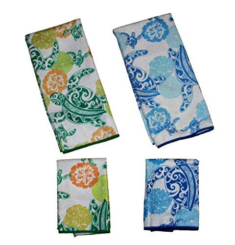 - Sea Turtle 4 Piece Set Microfiber Kitchen Towels and Dish Cloths