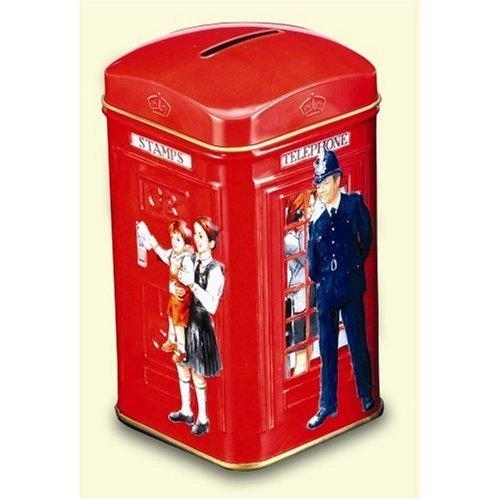 Ahmad London English Breakfast Tea Telephone Box Tin 25 Tea Bags ()