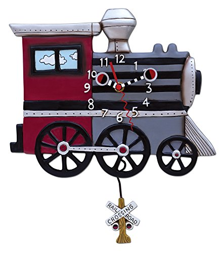Allen Designs Choo Choo Train Pendulum Clock For Sale