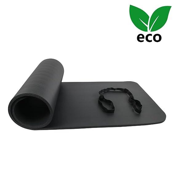 B0757CP49N Ativafit Estera de Yoga TPE Premium, Espesor de 12 mm, 173 x 61 x 1,2 cm Esterilla Pilates, para Ejercicios en el Suelo, Gimnasia, Camping, ...