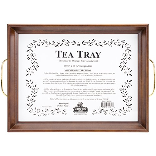 (Sudberry House 80081 Tea Tray, 13 x 17, Mahogany )