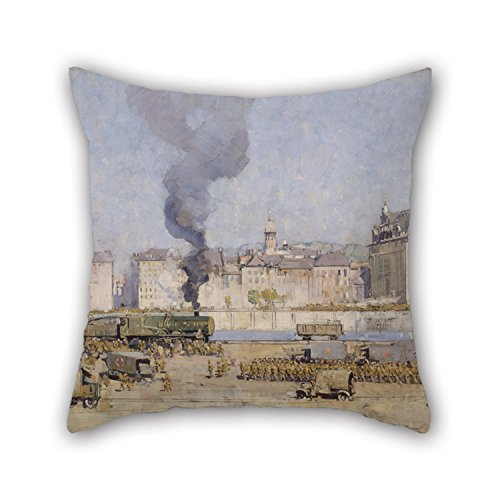 Mini Boulogne - Artistdecor 16 X 16 Inches / 40 By 40 Cm Oil Painting Arthur Streeton - Boulogne Cushion Covers ,double Sides Ornament And Gift To Drawing Room,her,kids Girls,boy Friend,birthday