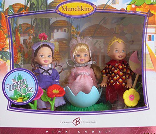 BARBIE Wizard of Oz MUNCHKINS KELLY & TOMMY Collector DOLLS w 3 MUNCHKIN (Lollipop TOMMY, BALLERINA & GIRL Villager) DOLLS & More (2006) ()