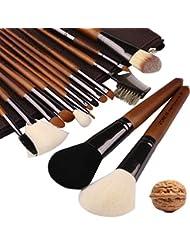 ZOREYA Makeup Brushes Premium Real Walnut 15pc High...
