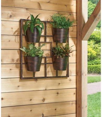Mejor casas y jardines con recubrimiento de polvo de bronce, durable, eficiente, ergonómico, cuadrícula vertical de jardín colgante Maceta pared: Amazon.es: Jardín