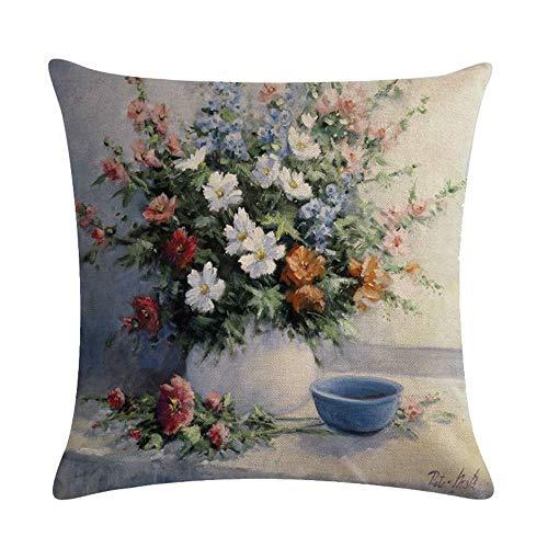 GTQC Oil Painting Landscape Painting Series Linen Hug Pillowcase Cushion Cover 7 4545cm