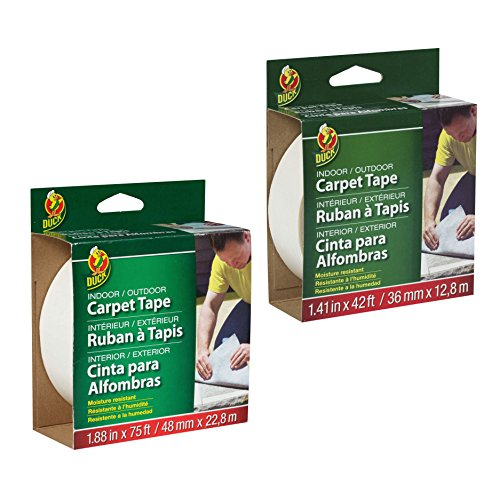 Duck Brand Indoor/Outdoor Fiberglass Double-Sided Carpet Tape (42 ft. long) / Available in multiple widths