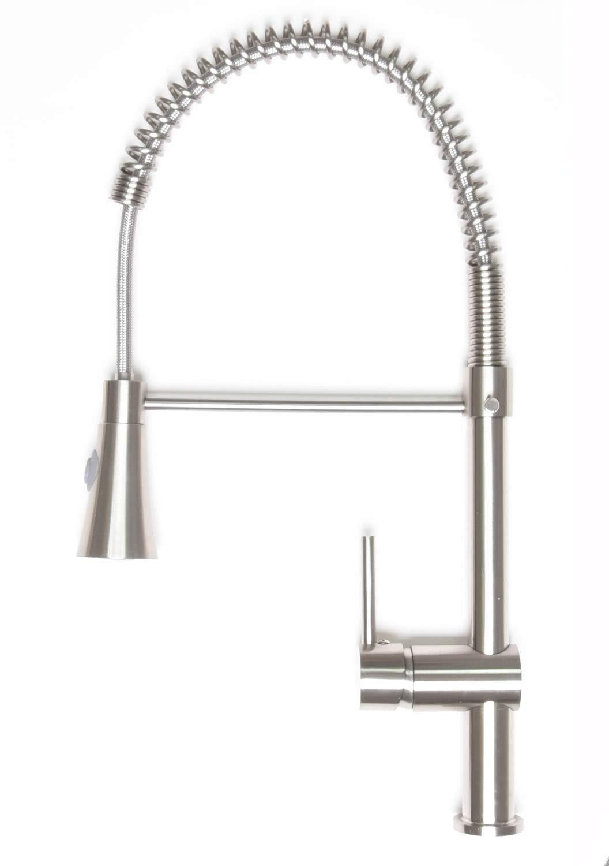 Zenvida Single Handle Pull Down Dual Function Sprayer Kitchen Faucet Brushed Nickel