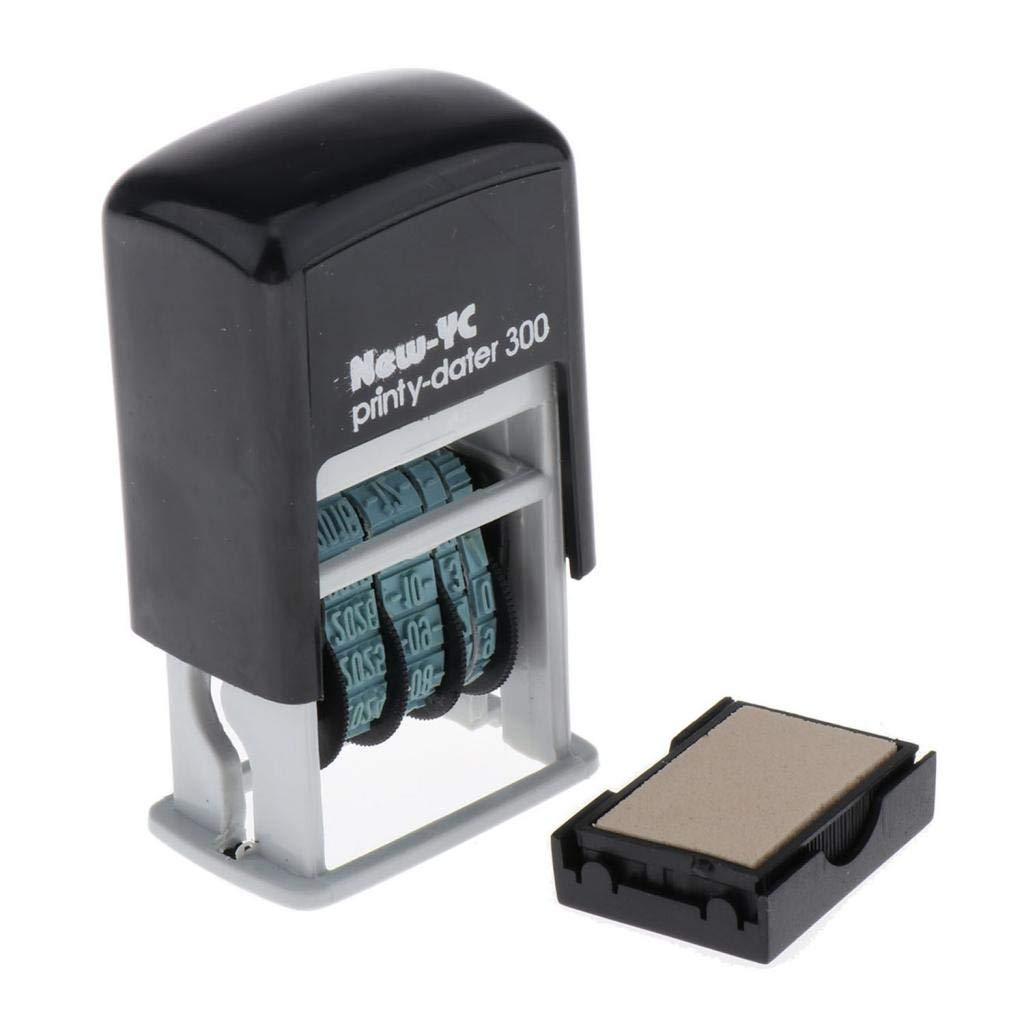 7 x 3 x 4 cm Multicolore Timbro Stazionario con Datario Autoinchiostrante H-4mm per Data di Spedizione