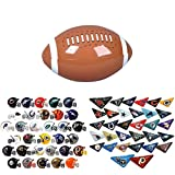 Mini Nfl Football Helmets and Table Top Football Flickers Complete Sets of 32 Each, Total 64 Licensed Items PLUS BONUS MINI FOOTBALL INFLATE BUNDLE BY DISCOUNT PARTY AND NOVELTY TM