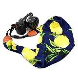 LIFEMATE Scarf Camera Strap,DSLR Camera Strap Universal Neck Strap,Fabric Of Bohemia Floral Scarf Camera Strap (Colorful Lemon)