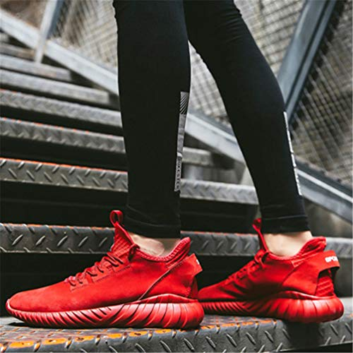 Tacón Zapatos Plano Encaje Hombres Moda Flats Casuales Hasta Hombre Masculina Rojo Zapatillas Clásico Cuero De 7OFgwO1