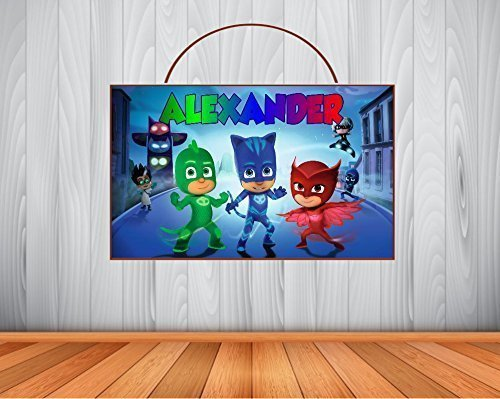 Personalized PJ MASKS Sign, PJ Masks Personalized Wooden Name Sign, PJ Masks Room Decor