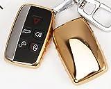 Electroplated TPU Smart key Fob Cover Skin Case for Land Rover Range Rovel Jaguar Durable Anti Shock Car Vehicle Chrome Metalic Mirror Effect