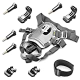 Fetch Dog Harness Chest Mount for Gopro HERO 5/4/3 Black Silver Session(10-in-1)
