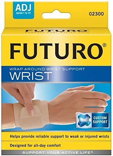 Futuro Wrap Around - Futuro Wrap Around Wrist Support, Adjustable Beige (Pack of 2)