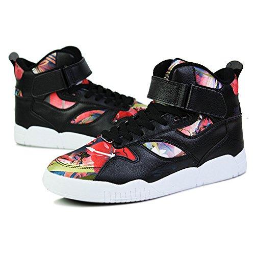 SGoodshoes Hombre Zapatos para Correr High Top zapatillas deportivas Libre y Deportes Zapatillas Rojo