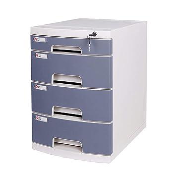 Archivador, tipo de cajón de plástico de cuatro capas con archivador de archivo de datos