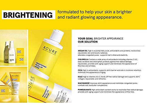 Acure Brightening Glowing Serum  100 Vegan  For A Brighter  Appearance  Argan Oil Pumpkin  Cranberry