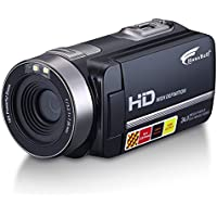 Hausbell HDBV-301 Full HD Digital Video Camera Camcorder 1920 X 1080P with 3.0 TFT LCD, 16 X Digital Active Zoom, 32 GB Memory Cards, Black
