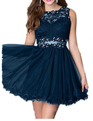 Spitze Mini Kurzes Abschlussballkleider Cocktailkleider mia Braut Tinte La Abendkleider Tanzenkleider Blau Promkleider nxWq1Of6