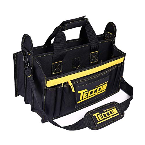 TECCPO Tool Bag 18 Inch Heavy Duty Contractor Bag Large Interior with 15 Pockets - THTB02B
