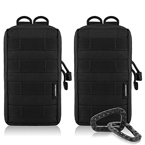 7c7e18c5ee98 AIRSSON Tactical Pouch Molle EDC Bag Compact Water- Resistant ...