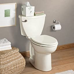 American Standard 2386.014.021 Cadet-3 Right Height Elongated Two-Piece Toilet with 14-Inch Rough-In, Bone